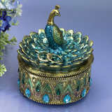 Peacock Keepsake Box