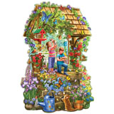 Wishing Well 750 Piece Shaped Jigsaw Puzzle