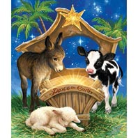 Born In A Manger 200 Large Piece Jigsaw Puzzle