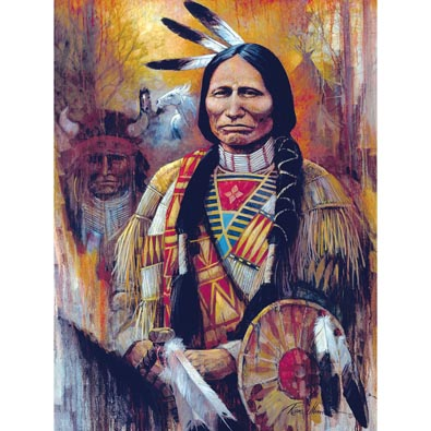 Chief American Horse 500 Piece Jigsaw Puzzle
