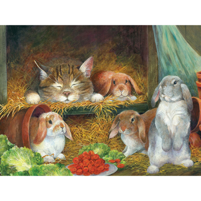 Bunnies 300 Large Piece Jigsaw Puzzle