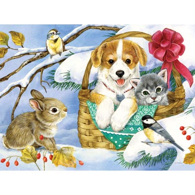Basket Of Love 300 Large Piece Jigsaw Puzzle