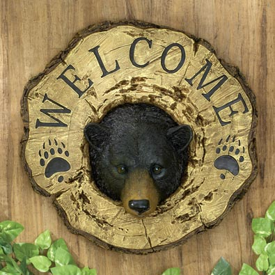 Bear Welcome Plaque
