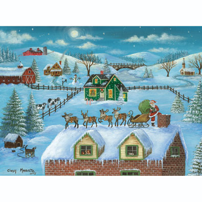 A Visit from Santa 1000 Piece Jigsaw Puzzle