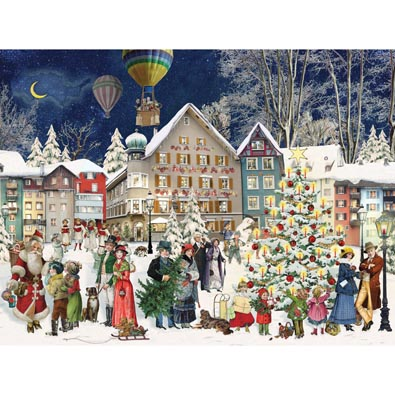 Christmas Town 500 Piece Jigsaw Puzzle