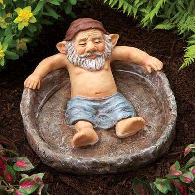 Relaxing Gnome Pool Garden Sculpture