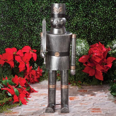 Holiday Soldier Metal Statue