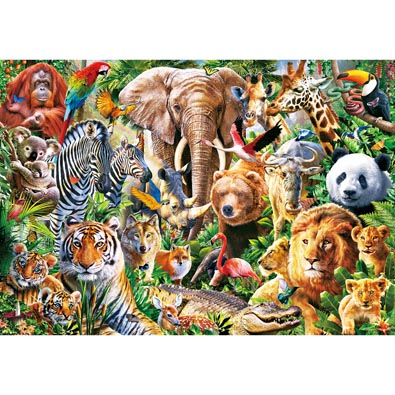 African Wildlife 300  Large Piece Jigsaw Puzzle