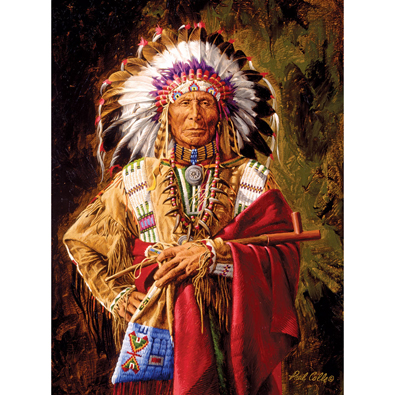 Chief Of The Rosebud 300 Large Piece Jigsaw Puzzle