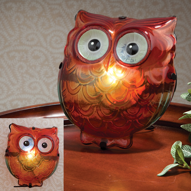 Glass Owl LED Lamp