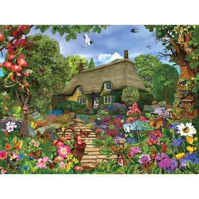 English Cottage Garden 1000 Piece Jigsaw Puzzle