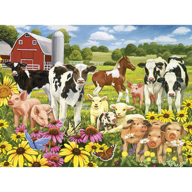Calves And Friends 300 Large Piece Jigsaw Puzzle