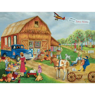 Apple Picking At Sunnyside Orchard 500 Piece Jigsaw Puzzle