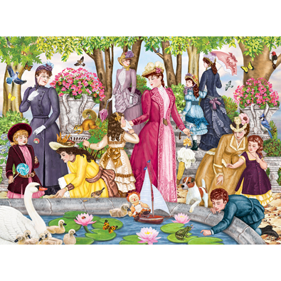Aunt Josephine Visits The Park 1000 Piece Jigsaw Puzzle
