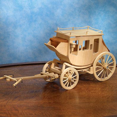 Stagecoach Wooden Model Kit