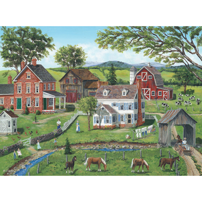 Chatting Across The Fence 500 Piece Jigsaw Puzzle