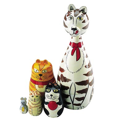 Nesting Cats Animal Set