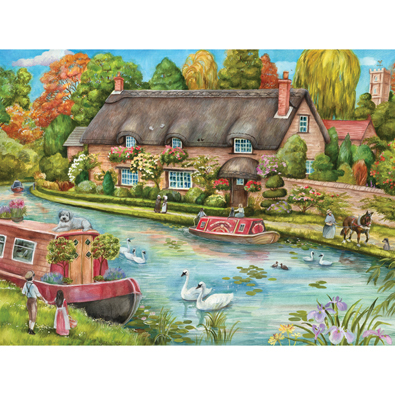 Canal Cottage 1000 Piece Jigsaw Puzzle
