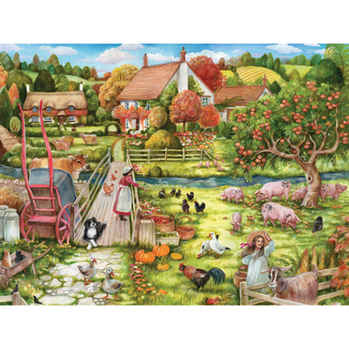 Feeding Time At The Farm 1000 Piece Jigsaw Puzzle