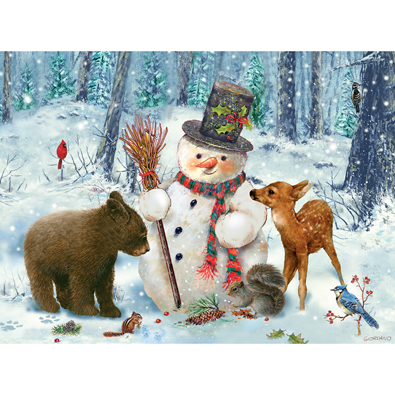 Snowman Gethering 1000 Piece Jigsaw Puzzle Bits And Pieces