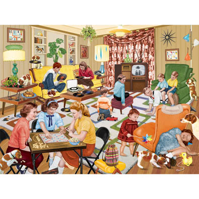 Aunt Minnie Visits Our Family 300 Large Piece Jigsaw Puzzle
