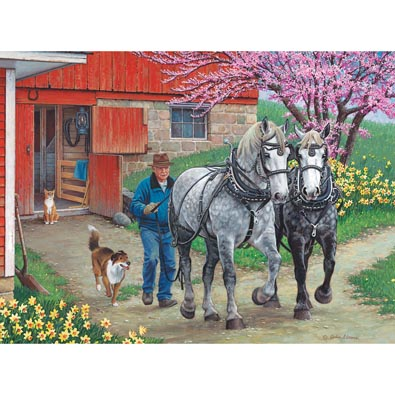 Back In The Harness 1000 Piece Jigsaw Puzzle
