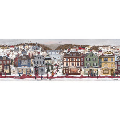A Winter Day End 1000 Piece Panoramic Jigsaw Puzzle