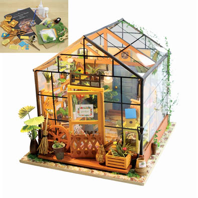 Amazing Miniature Greenhouse Model Kit