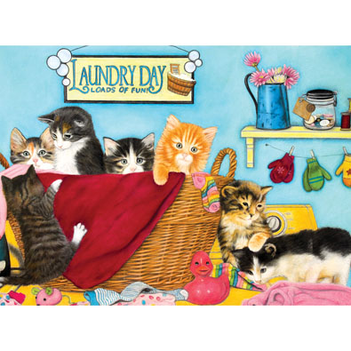 Laundry Day 300 Large Piece Jigsaw Puzzle