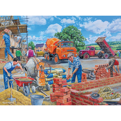 Builders At Work 300 Large Piece Jigsaw Puzzle