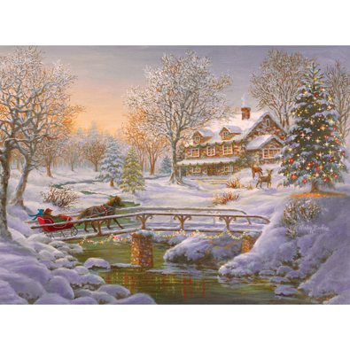 Over The Bridge To Grandma's House 1000 Piece Jigsaw Puzzle