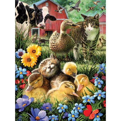 A Little Cat Nap 500 Piece Jigsaw Puzzle