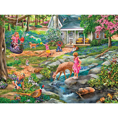 Blue Bells Forest 1000 Piece Jigsaw Puzzle