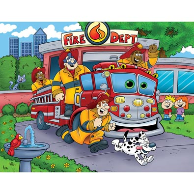 Fire Truck 100 Large Piece Jigsaw Puzzle