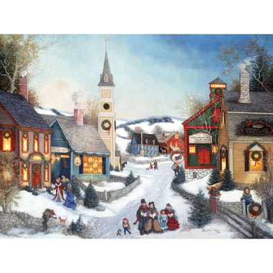 Carolers In Town Square 500 Piece Jigsaw Puzzle