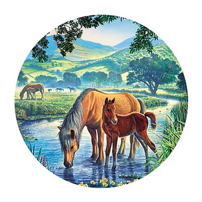 Fell Pony 1000 Piece Round Jigsaw Puzzle