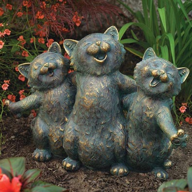 cats garden statues lawn ornaments ebay animal garden ornaments deer dog cat statues uk free. Black Bedroom Furniture Sets. Home Design Ideas