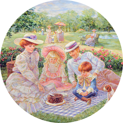 Days Remembered 1000 Piece Round Jigsaw Puzzle