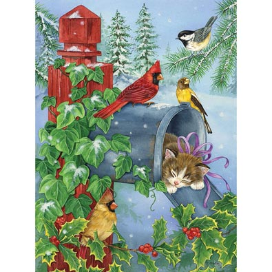 A Cozy Nap 300 Large Piece Glitter Effects Jigsaw Puzzle