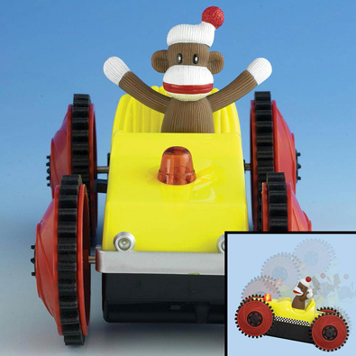 Sock Monkey Tumble Car