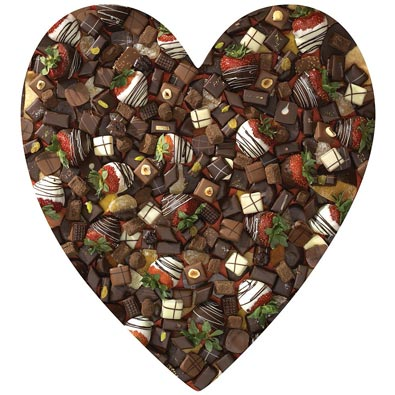 Chocolate Heart 750 Piece Shaped Jigsaw Puzzle