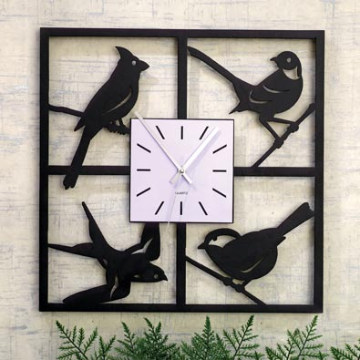 Bird Window Clock