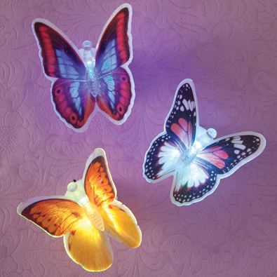 Fiber Optic Butterflies