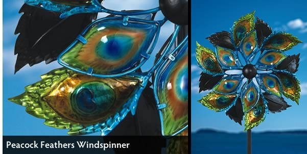 Peacock Feathers Windspinner