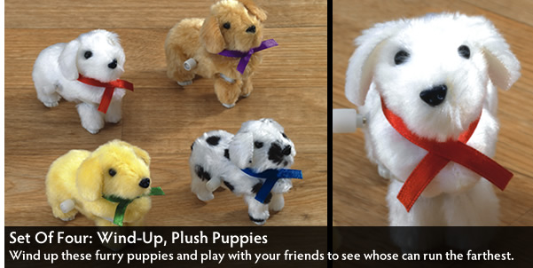 Four Wind-Up Puppies