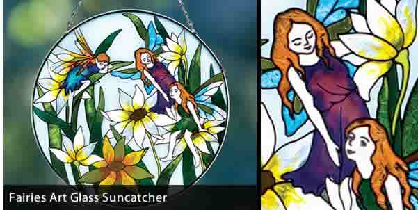 FAIRIES ART GLASS SUNCATCHER