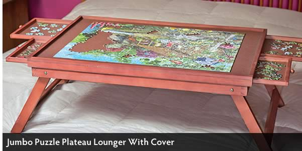 Jumbo Puzzle Plateau Lounger With Cover